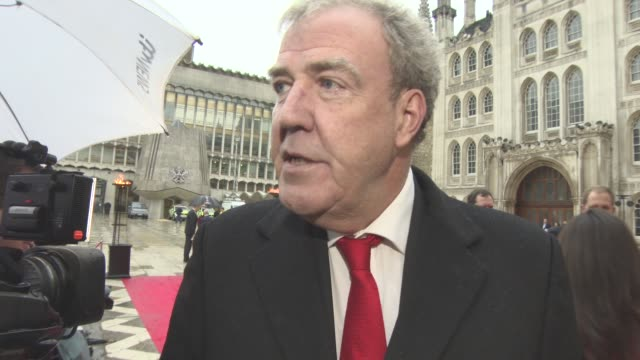 interview jeremy clarkson on being a judge the stories at the event free drinks national television awards not being important at the sun military... - jeremy clarkson stock videos & royalty-free footage