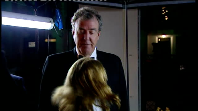jeremy clarkson 'racist nursery rhyme' row calls for him to be sacked by bbc / r19121107 jeremy clarkson arriving at the sun military awards 2011... - jeremy clarkson stock-videos und b-roll-filmmaterial
