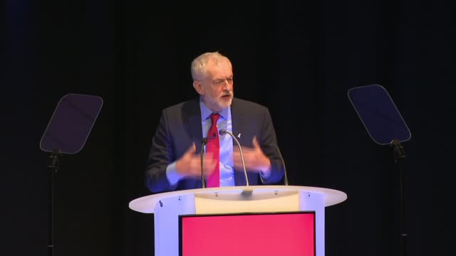 Jeremy Corbyn addresses Labour Party local government conference ENGLAND Nottinghamshire Nottingham INT Jeremy Corbyn MP arrival and speech SOT Thank...