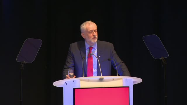 jeremy corbyn addresses labour party local government conference jeremy corbyn speech sot in the last month the privatisation arguments have been... - jeremy corbyn stock videos & royalty-free footage
