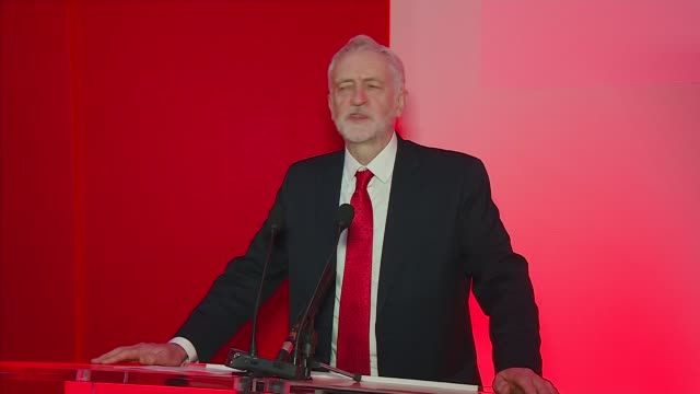 Jeremy Corbyn addresses Labour Party North regional Conference ENGLAND Newcastle Newcastle University INT Jeremy Corbyn MP into room and speech SOT
