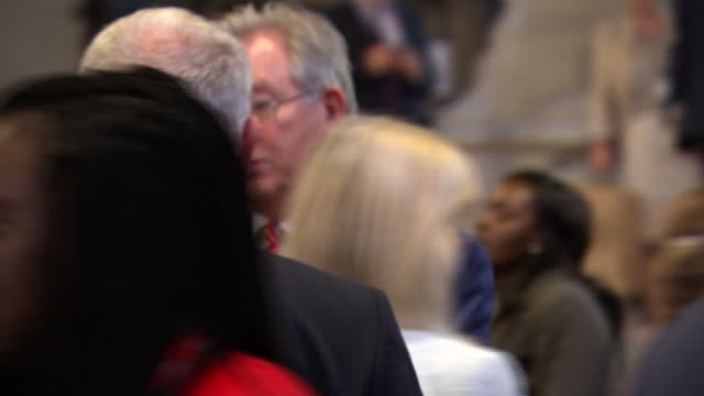 jeremy corbyn and labour mps westminster hall photocall tanmanjeet singh dhesi mp and laura pidcock mp / hilary benn taking photos on phone / jeremy... - hilary benn stock-videos und b-roll-filmmaterial