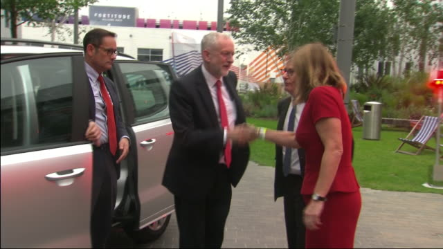 Jeremy Corbyn arriving at Sky Studios for a live audience QA and debate
