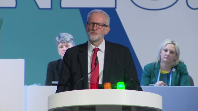 Jeremy Corbyn calls for SATs to be scrapped in England's primary schools ENGLAND Liverpool INT Jeremy Corbyn MP speech at National Education Union...