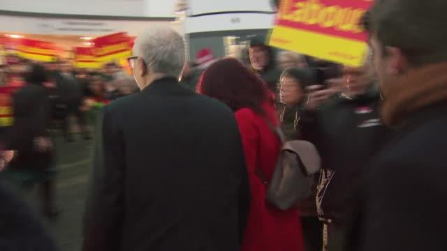 jeremy corbyn campaigning in blackrod - jeremy corbyn stock videos & royalty-free footage
