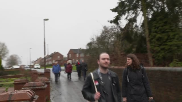 Jeremy Corbyn canvassing in Dudley ENGLAND West Midlands Dudley EXT Various of Jeremy Corbyn MP along with Labour Party campaigners and activists as...