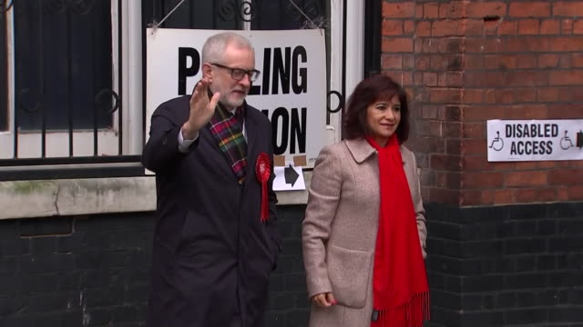 jeremy corbyn casting his vote in the general election - cast member stock videos & royalty-free footage