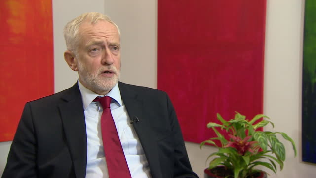 jeremy corbyn commenting on theresa may's speech on brexit in florence says 'this whole speech seemed to me the product of the internal negotiations... - labor party stock videos & royalty-free footage