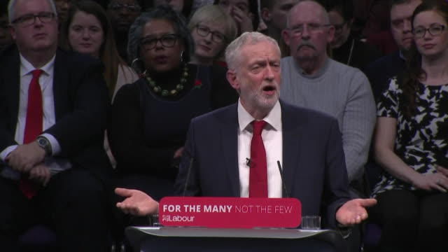 jeremy corbyn criticising the government's economic record after philip hammond's recent budget - budget stock-videos und b-roll-filmmaterial