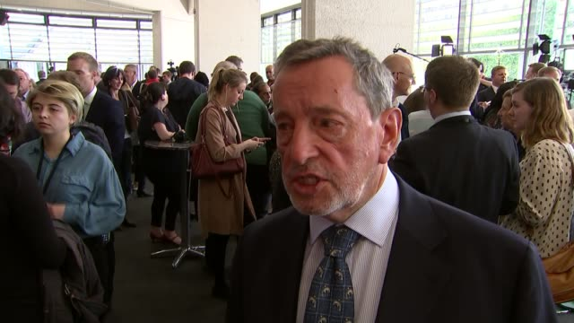 jeremy corbyn elected as labour leader; queen elizabeth ii conference centre: int david blunkett interview sot - i'm hoping from today that jeremy... - david blunkett stock videos & royalty-free footage
