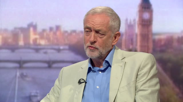 jeremy corbyn explaining his reasons for sacking hilary benn from his shadow cabinet - sack stock videos & royalty-free footage