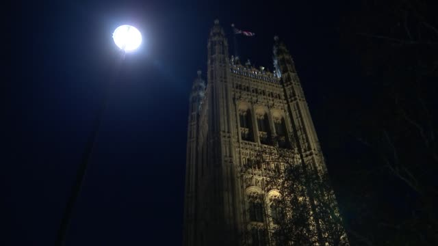 jeremy corbyn faces backlash over brexit offer to prime minister england london westminster houses of parliament victoria tower - victoria tower stock-videos und b-roll-filmmaterial