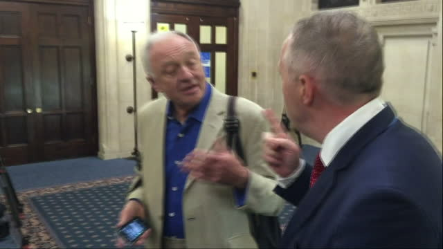 stockvideo's en b-roll-footage met jeremy corbyn has tonight denied labour is in crisis as the antisemitism row at the heart of the party escalated further with the suspension of the... - ken livingstone