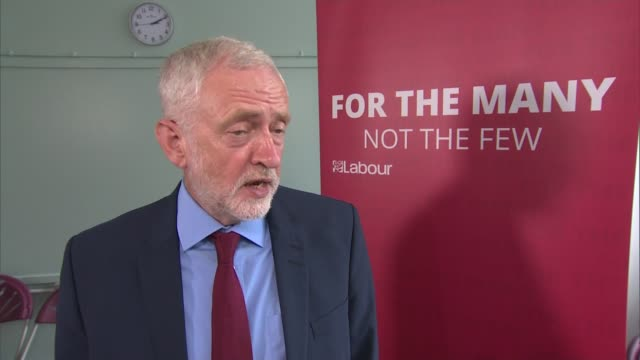 Jeremy Corbyn interview and speech in Crawley ENGLAND West Sussex Crawley INT Jeremy Corbyn MP interview SOT Labour will recruit more GPs / Venezuela...