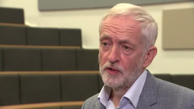 jeremy corbyn interview in which he admits attending wreathlaying ceremony for palestinian militants england shropshire harper adams university ext... - attending stock videos and b-roll footage
