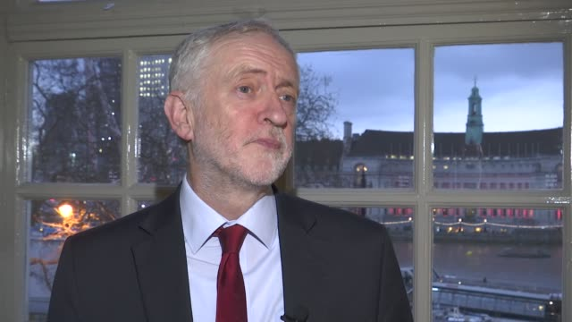 jeremy corbyn interview on nhs brexit and women's suffrage england london westminster int jeremy corbyn mp interview sot on his tweet to us president... - nhs stock videos & royalty-free footage