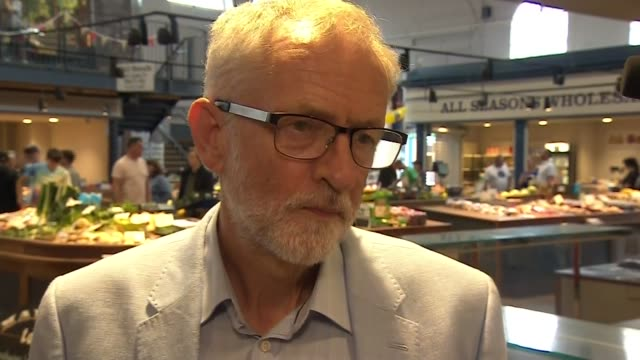 jeremy corbyn interview re liberal democrats win brecon and radnorshire byelection england north yorkshire scarborough int jeremy corbyn mp interview... - scarborough nord yorkshire stock-videos und b-roll-filmmaterial
