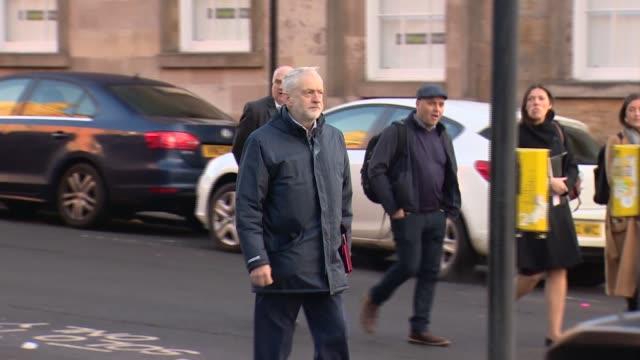 Jeremy Corbyn meets Richard Leonard at Unite in Glasgow SCOTLAND Glasgow EXT Richard Leonard MSP arriving at John Smith House the headquarters of...