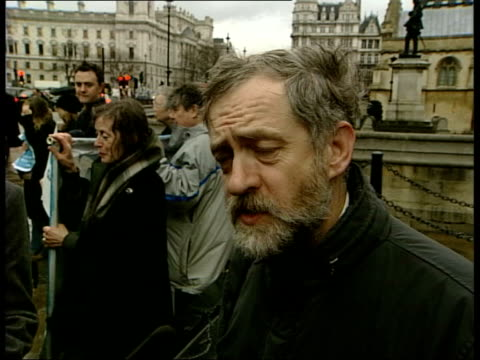 islington north interviewed sot if you lock people up on signature of politician not court it's danger to civil liberties of everybody / have to... - jeremy corbyn stock-videos und b-roll-filmmaterial