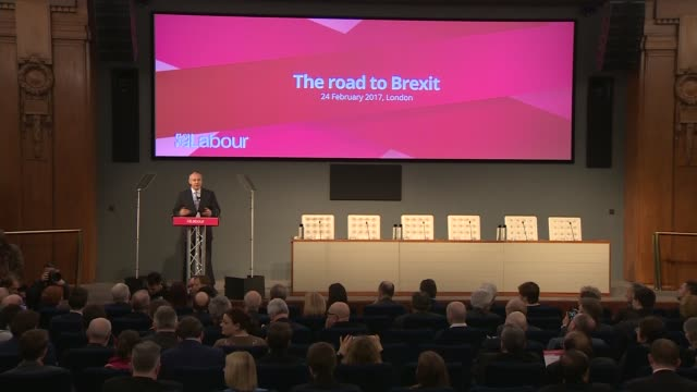 jeremy corbyn 'road to brexit' speech jeremy corbyn 'road to brexit' speech england london photography*** jeremy corbyn mp arrival and seated janet... - baroness stock videos & royalty-free footage