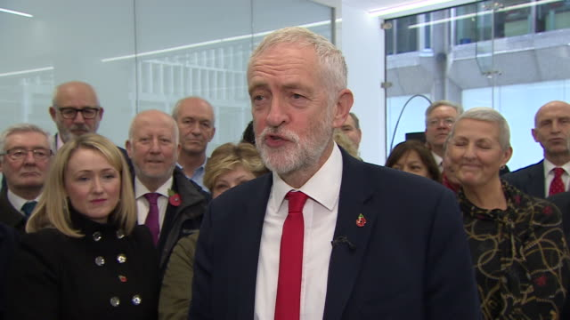 jeremy corbyn saying he can't wait to start labour's general election campaign - portrait stock videos & royalty-free footage