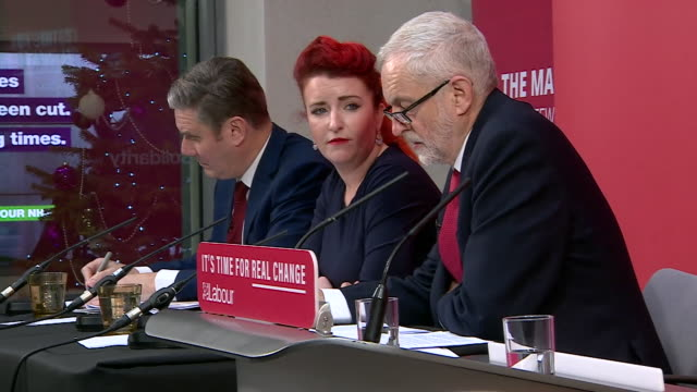 """jeremy corbyn saying he is not """"hiding"""" by remaining neutral in a potential second eu referendum - keir starmer stock videos & royalty-free footage"""