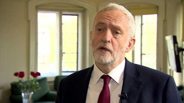 """jeremy corbyn saying he """"welcomes the opportunity for us to put the case to the people of britain"""" after theresa may called for a snap general... - jeremy corbyn stock videos & royalty-free footage"""