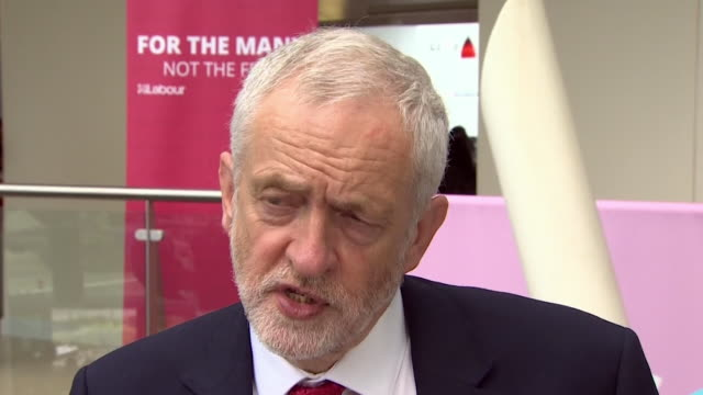 jeremy corbyn saying his party have produced a very well thoughtout and very credible manifesto in a very short space of time - launch event stock videos & royalty-free footage