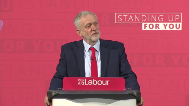 jeremy corbyn saying if i were philip green southern rail or mike ashley i'd be worried about a labour victory because those are the people who are... - jeremy corbyn stock videos & royalty-free footage