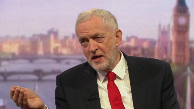jeremy corbyn saying if the uk wants to take the moral high ground it has to abide by international law - bbc stock videos and b-roll footage