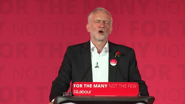 stockvideo's en b-roll-footage met jeremy corbyn saying in seven weeks we have put together a quite incredible campaign in every part of britain - manifest