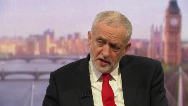 jeremy corbyn saying parliament should have a vote to outline the process in dealing with syria and that there should be a political solution - bbc stock videos and b-roll footage