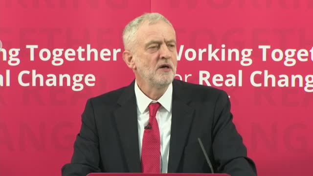 jeremy corbyn saying that the labour party will demand the brexit negotiations will give parliament the power to intervene decisively to prevent... - british labour party stock videos & royalty-free footage