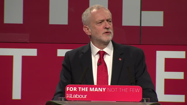 jeremy corbyn saying the issue of brexit has been settled and the question now is what sort of brexit do we want - editorial bildbanksvideor och videomaterial från bakom kulisserna