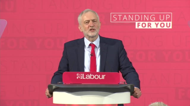 jeremy corbyn saying the labour party represents working people saying it is the establishment versus the people and it's our duty to make sure the... - jeremy corbyn stock videos & royalty-free footage