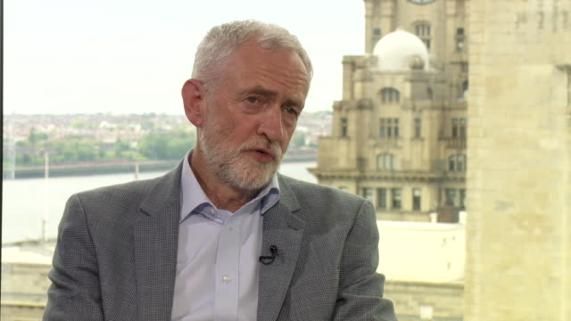 stockvideo's en b-roll-footage met jeremy corbyn saying the vast majority of labour mp's support his position on brexit - andrew marr