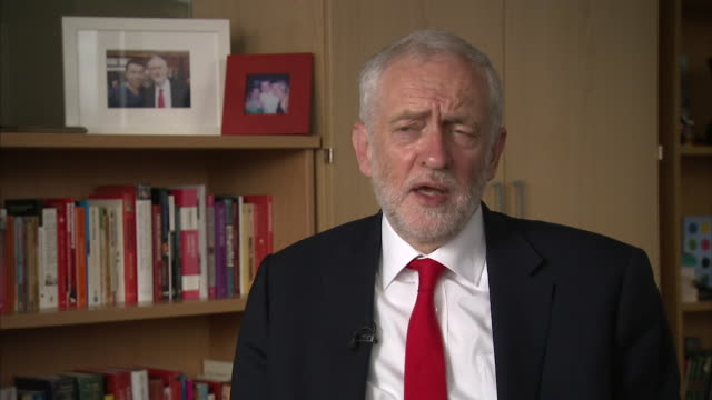 Jeremy Corbyn saying Theresa May called the election because she wanted a 'strong and stable government' and that after the result 'it doesn't look...