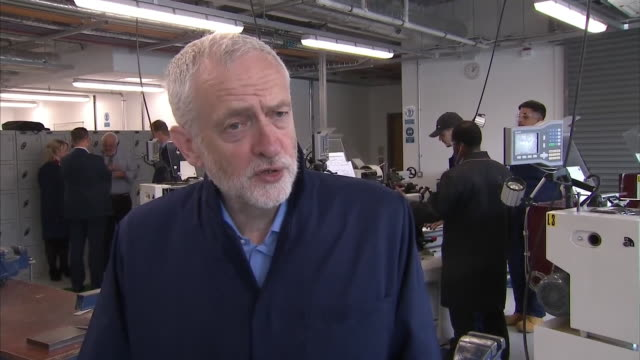 Jeremy Corbyn saying 'we have a problem in Britain we haven't invested enough in the skilled workers scientists engineers and teachers of tomorrow We...