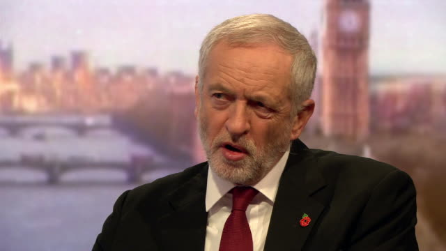 Jeremy Corbyn speaking about the xenophobia and intolerance of Donald Trump's election campaign and that the left needs to show that the only way...