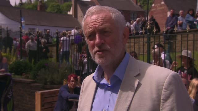jeremy corbyn speech at durham miners gala england county durham durham ext jeremy corbyn mp interview sot we're a democratic party of more than half... - county durham stock videos & royalty-free footage