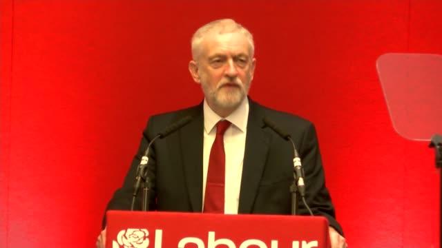 jeremy corbyn speech to labour east regional conference england cambridgeshire huntingdon int jeremy corbyn mp speech sot - socialism stock videos & royalty-free footage