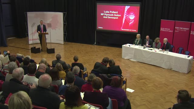 Jeremy Corbyn speech to South West conference ENGLAND Devon Plymouth EXT Jeremy Corbyn MP arriving to attend Labour Party South West Regional...