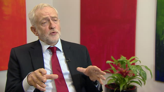 Jeremy Corbyn talks about Brexit and other issues that will be discussed during the upcoming Labour party conference September 2017 NNBZ125P ABSA627D