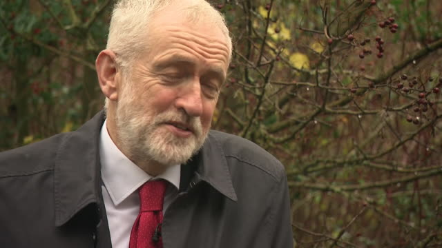 jeremy corbyn travelled to his home town of telford now held by the conservatives with a majority of just 720 shows interview with jeremy corbyn on 6... - jeremy corbyn stock-videos und b-roll-filmmaterial