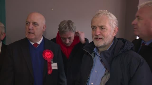 Jeremy Corbyn visits Selkirk EXT Jeremy Corbyn and Richard Leonard along and chatting with people in street Jeremy Corbyn and Richard Leonard in shop...