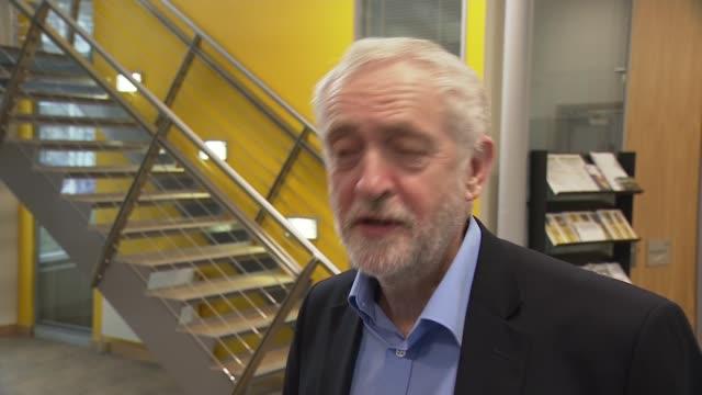 Jeremy Corbyn visits Selkirk Jeremy Corbyn MP interview SOT