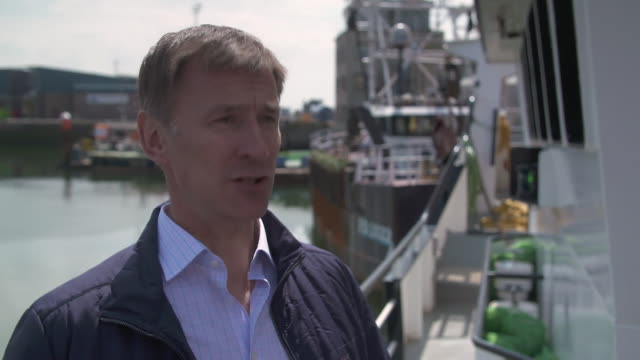 jeremy hunt challenging leadership rival boris johnson to engage with the media and put himself under scrutiny - scrutiny stock videos & royalty-free footage