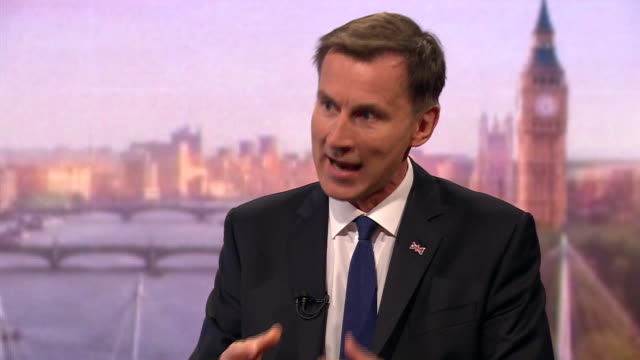 jeremy hunt explaining why he would increase defence spending if he became prime minister - growth stock videos & royalty-free footage