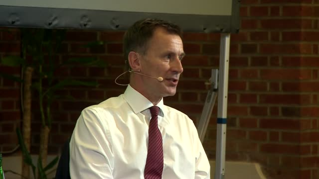 jeremy hunt in conversation with andrew neil uk london westminster jeremy hunt qa with andrew neil part 5 london westminster int jeremy hunt mp... - andrew neil stock videos & royalty-free footage
