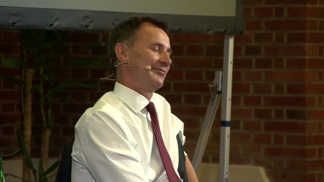jeremy hunt in conversation with andrew neil; uk, london, westminster: jeremy hunt q&a with andrew neil, part 7. england: london: westminster: int... - andrew neil stock videos & royalty-free footage